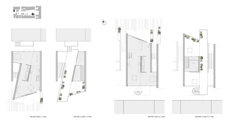 Habitations dans les ruelles de montr al exposition des for Plan habitation